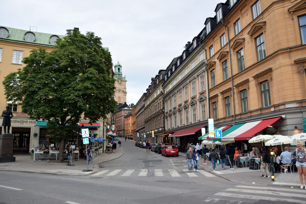 Abendspaziergang in die Altstadt Stockholm