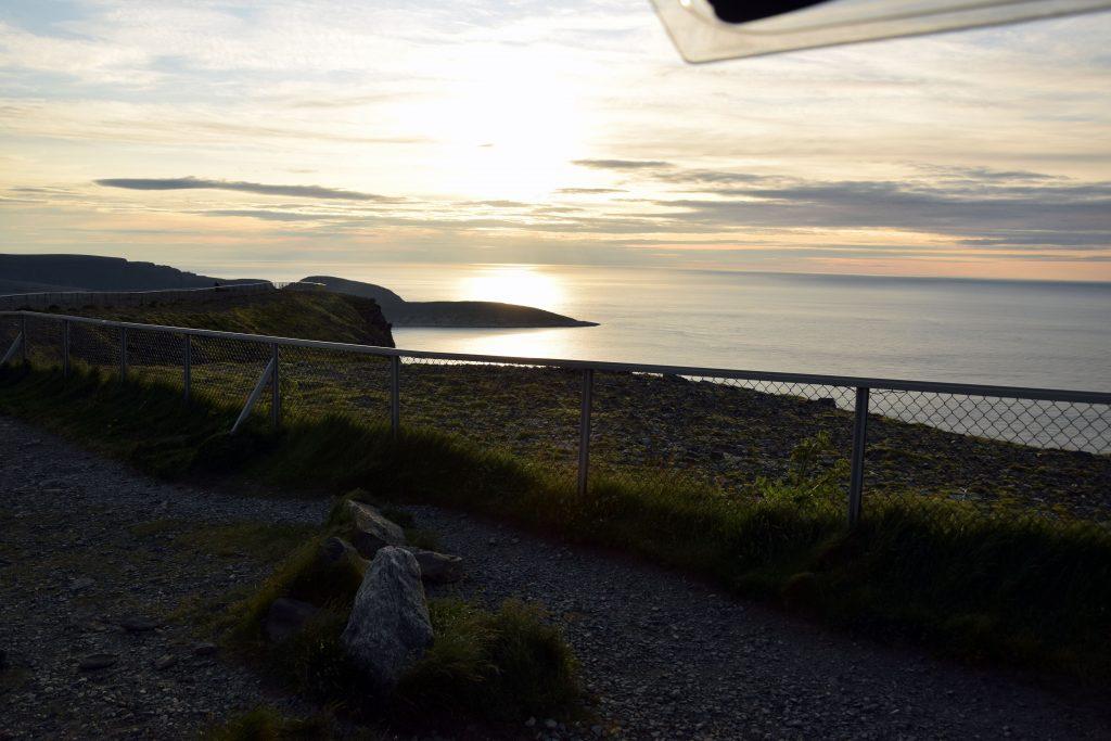 Aussicht vom Parkplatz am Nordkap