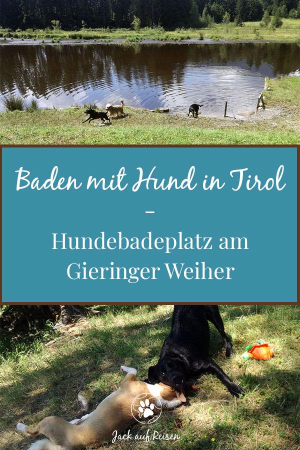 Baden mit Hund in Tirol - Hundebadeplatz am Gieringer Weiher