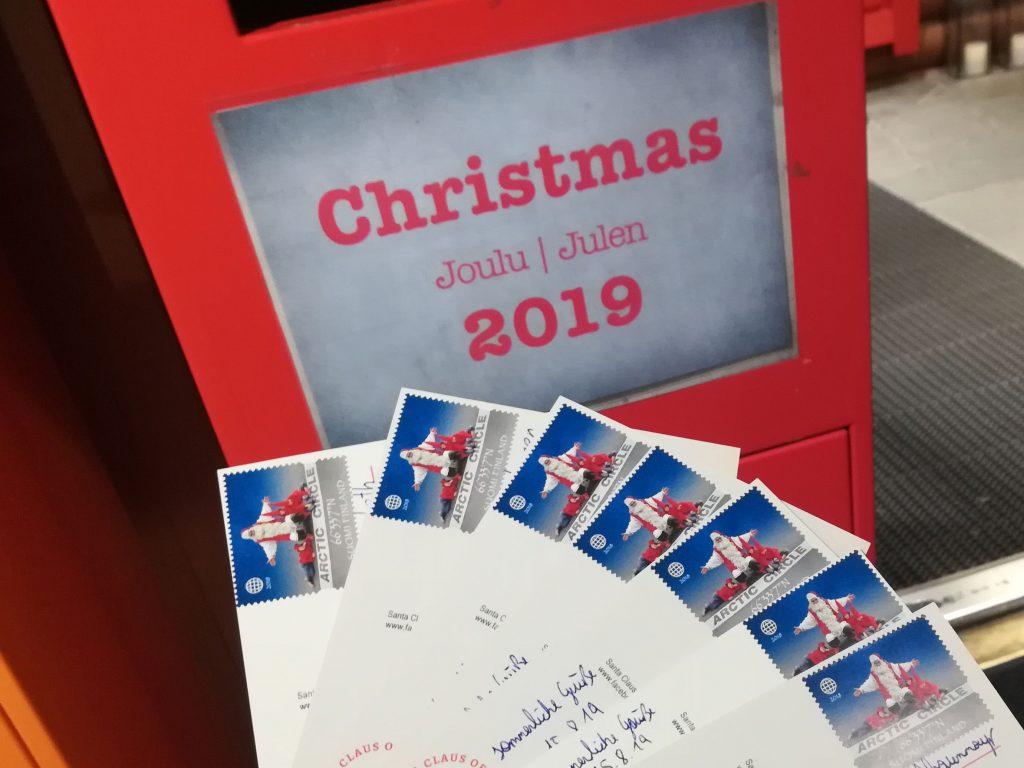 Postkarten Weihnachtsmanndorf