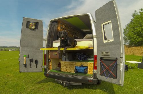 Camper Ausbau Terasse
