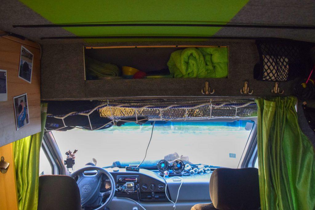Camper Stauraum Fahrerkabine