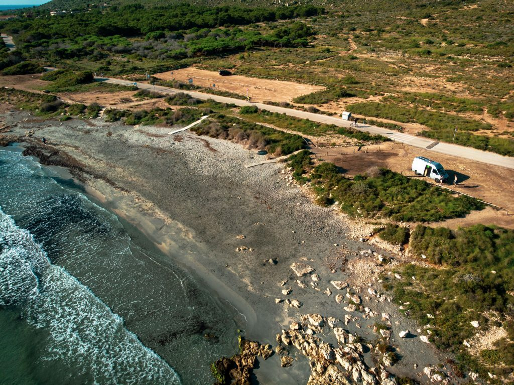 Camping am Strand in Spanien