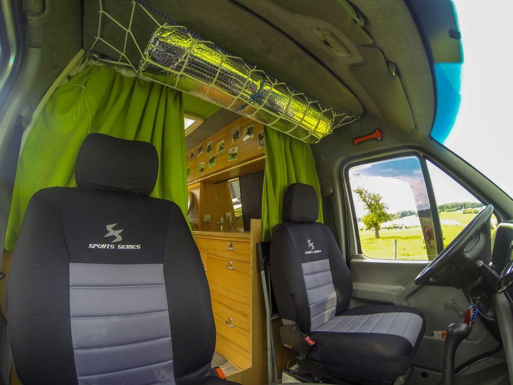 Campingbus Fahrerkabine