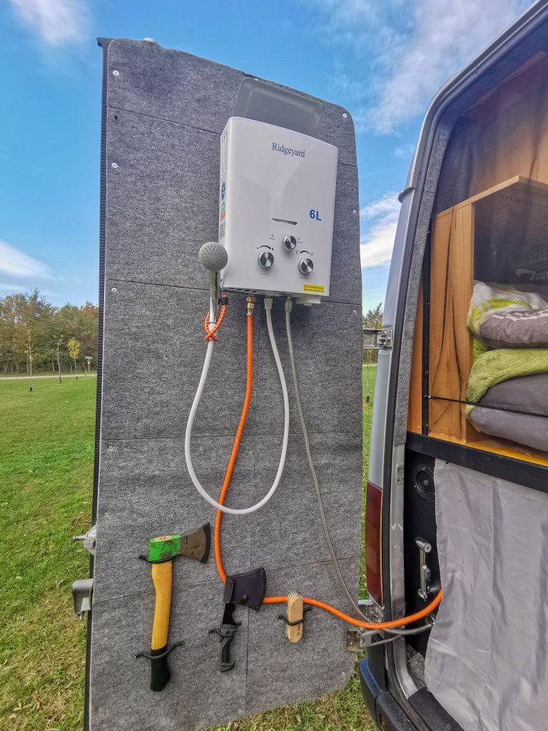 Durchlauferhitzer im Van