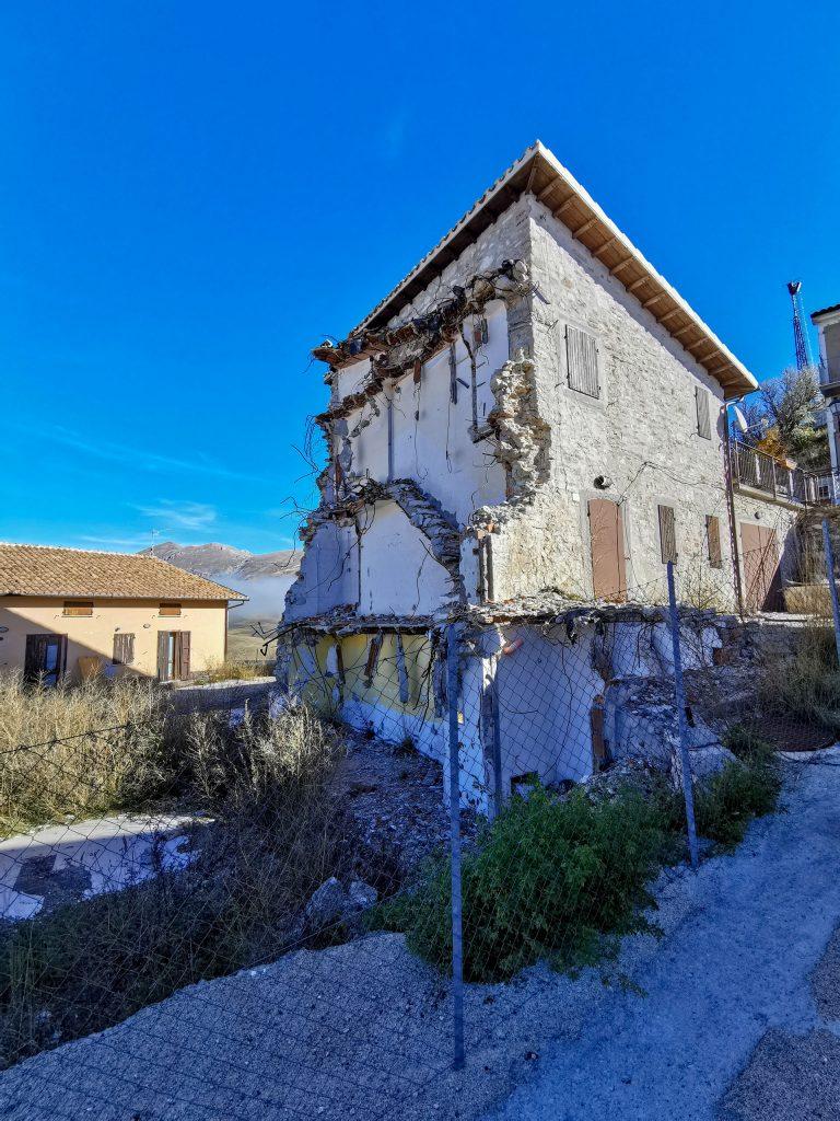 Erdbeben in Italien Bergdorf