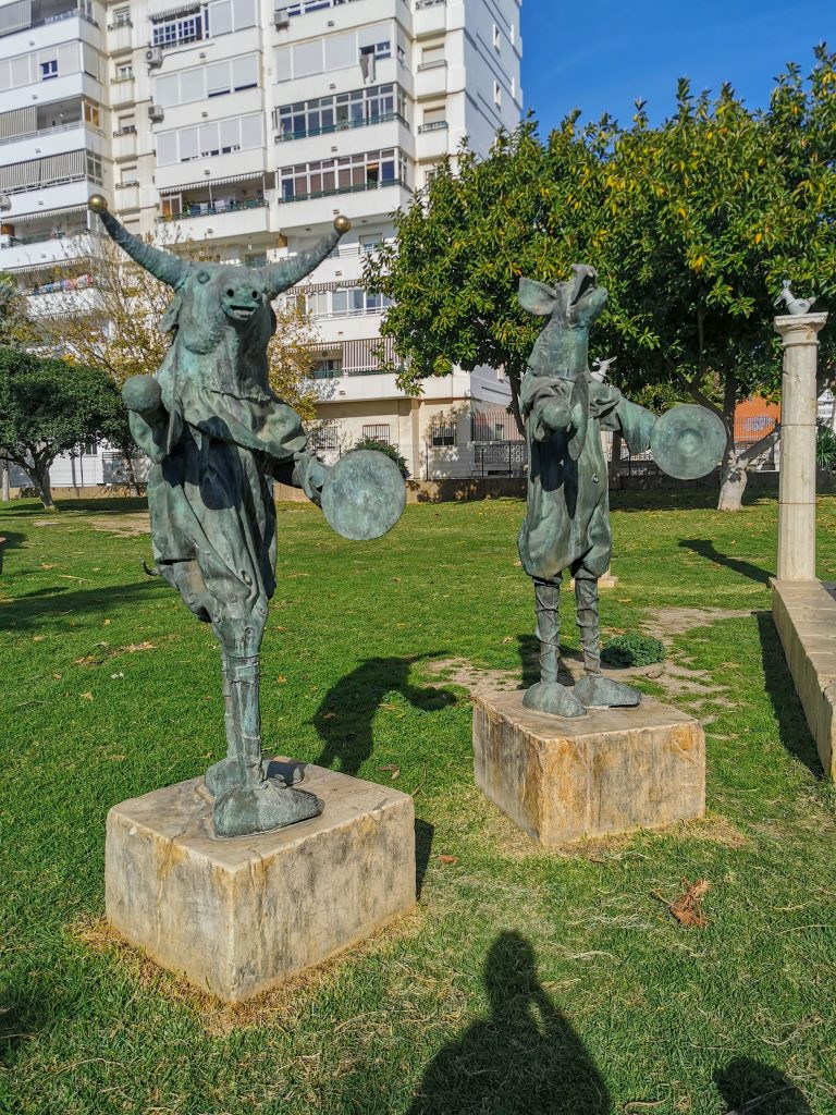 Figuren im Park in Malaga