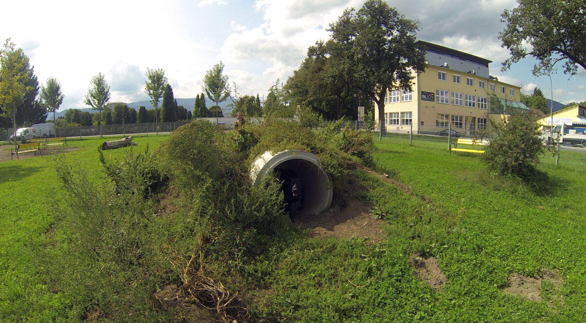 Tunnel auf der Hundewiese Villach