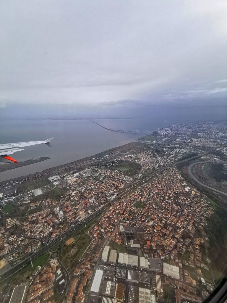 Heimflug von Lissabon