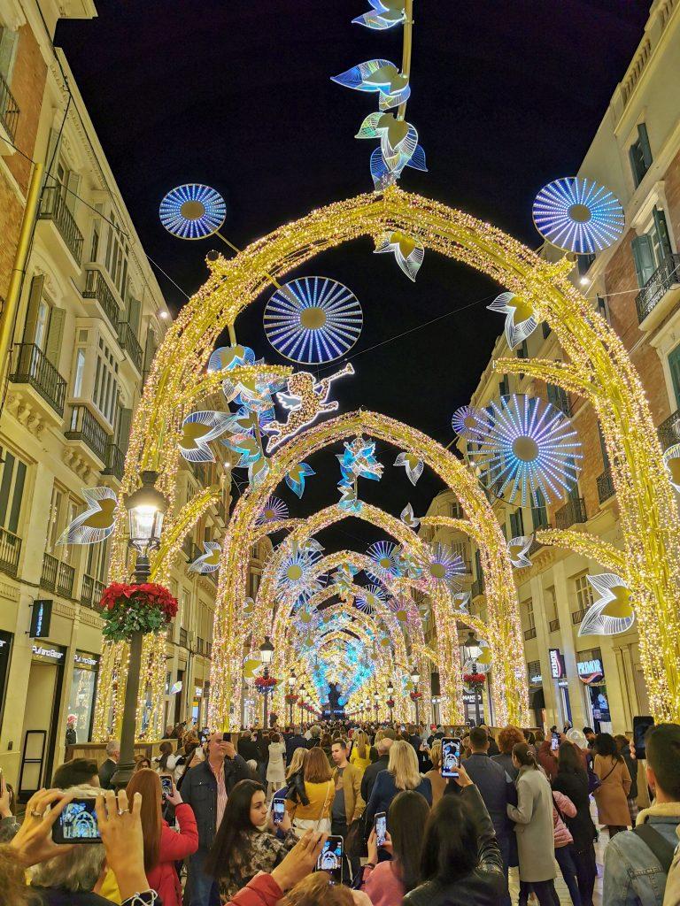 Lichtershow in Malaga