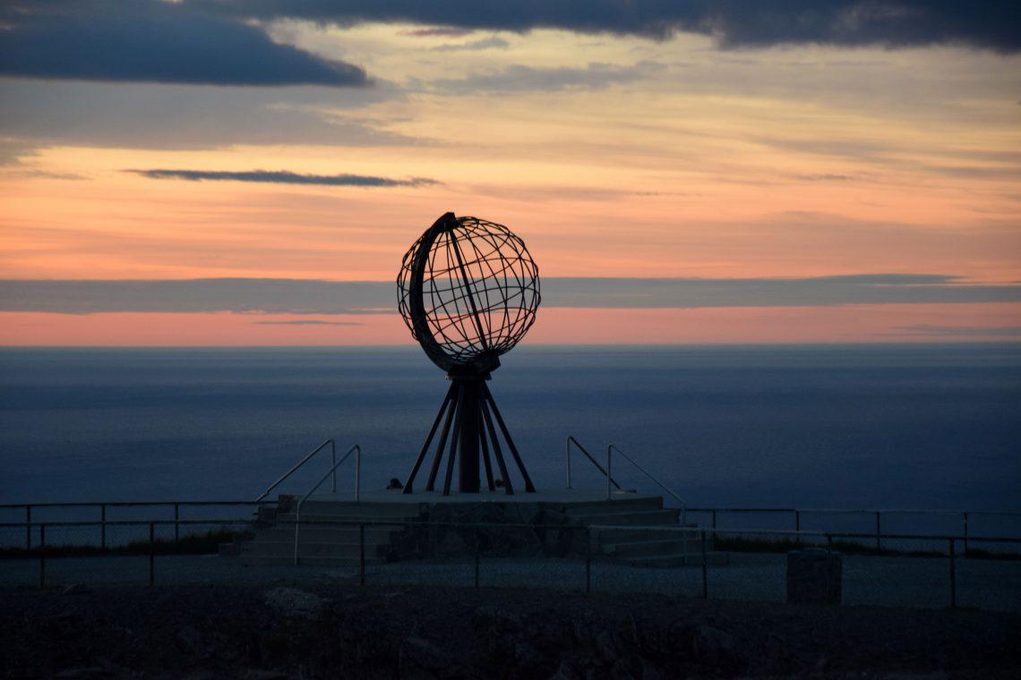 Nordkap bei Sonnenuntergang