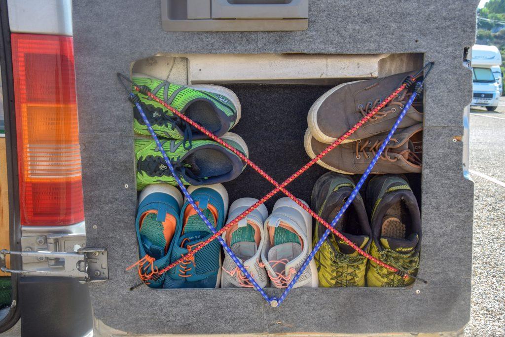 Schuhablage Campingbus