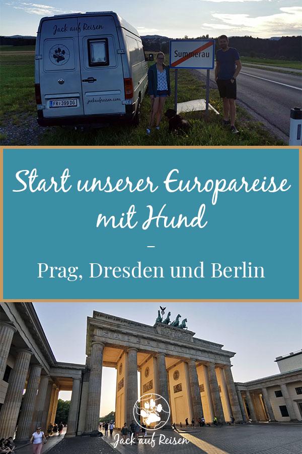 Start Europareise Pin