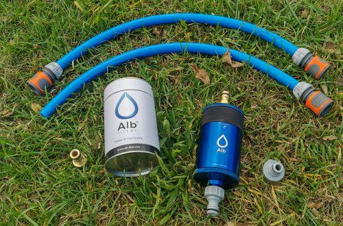Wasserfilter beim Campen