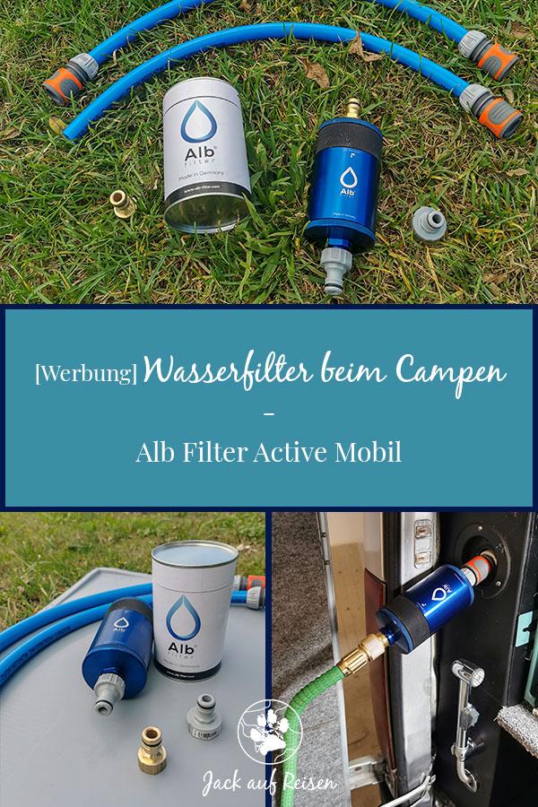 Wasserfilter beim Campen Pin
