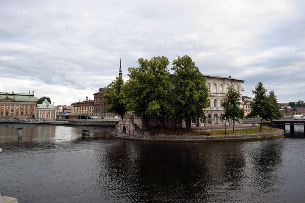 Weg in die Altstadt Stockholm