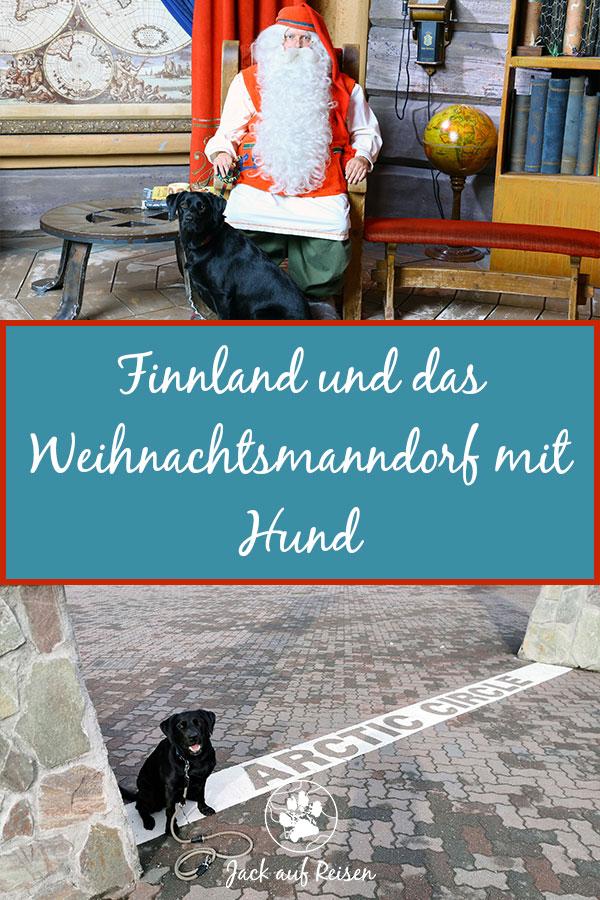 Weihnachtsmanndorf mit Hund Pin