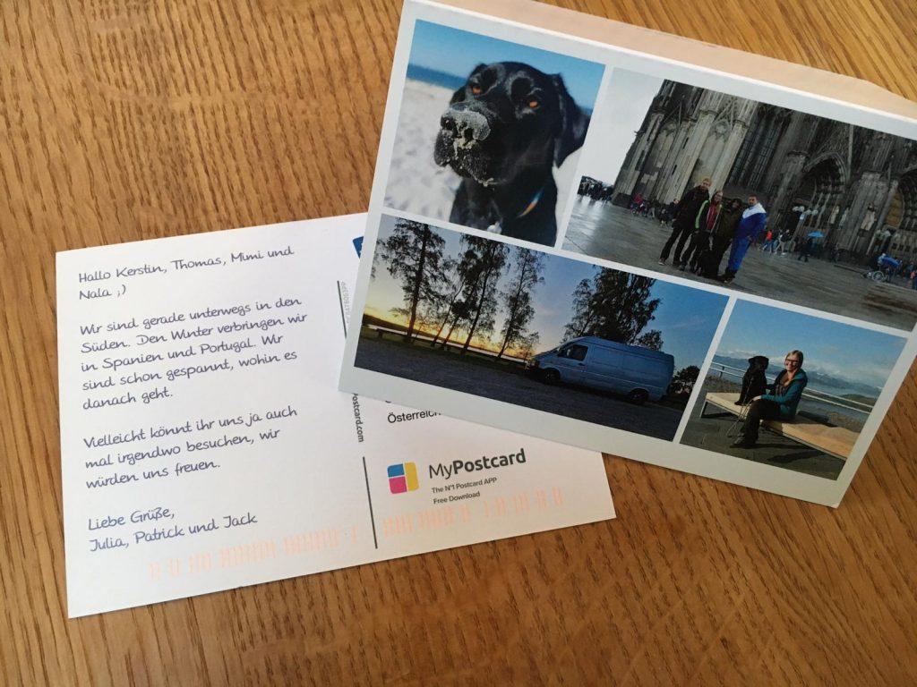 selbst gestaltete Postkarten