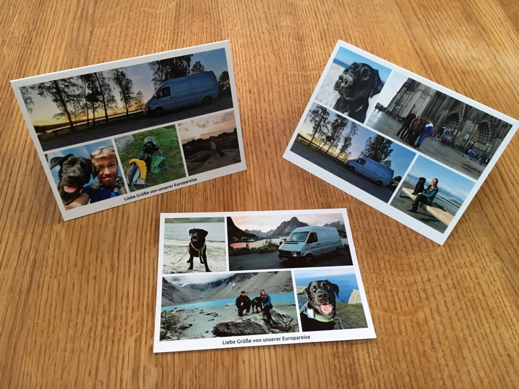 Postkarten mit eigenen Fotos