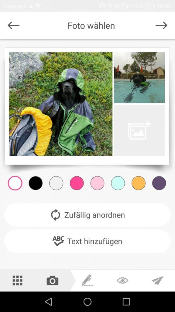 Postkarte per App gestalten