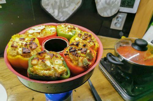 gefüllte Paprika kochen im Wohnmobil