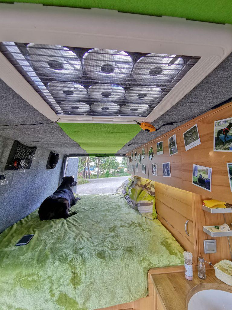 selbstgebauter Lüfter Campingbus